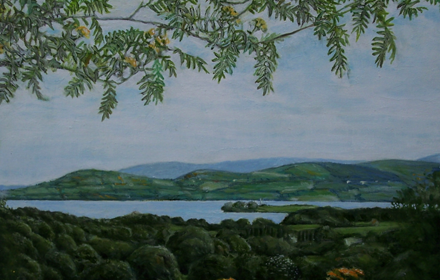 Lough Derg, view with Leaves. County Clare