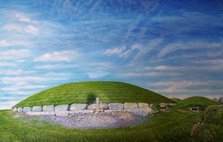Knowth, East Entrance. Brú na Boinne. County Meath.