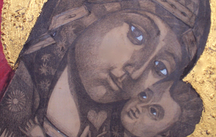 Black Madonna and Child.
