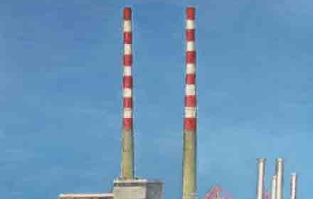 Poolbeg Chimneys. Dublin Port. Dublin